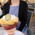ラデュレ・桃のパフェ