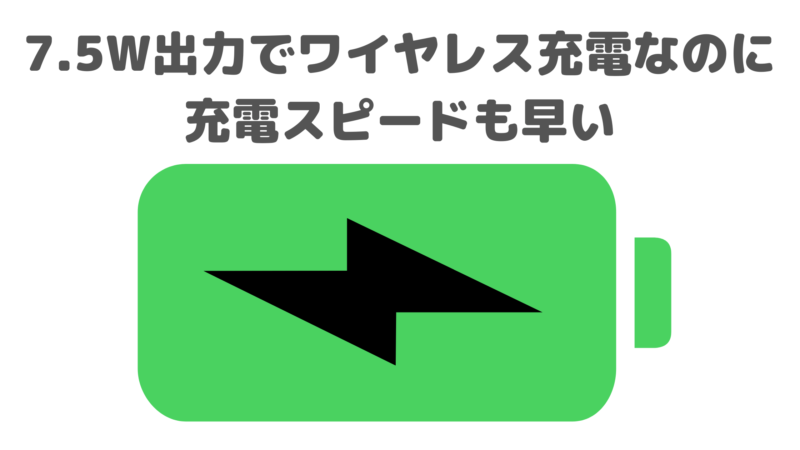 Anker PowerWave II Standレビュー②|7.5W出力で充電スピードも早い!