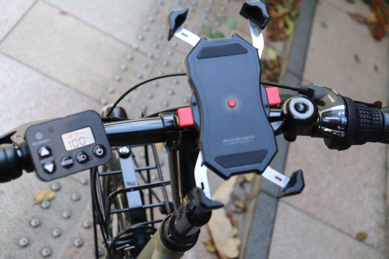 BOSIWO 自転車スマホホルダー|パイプ取り付け部分がチタン合金ネジで固定力が強い!