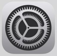 デフォルトブラウザのGoogleChrome変更手順①|iPhoneの「設定」を開く