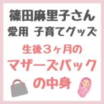 篠田麻里子さん愛用子育てグッズ|生後3ヶ月のマザーズバッグ中身まとめ