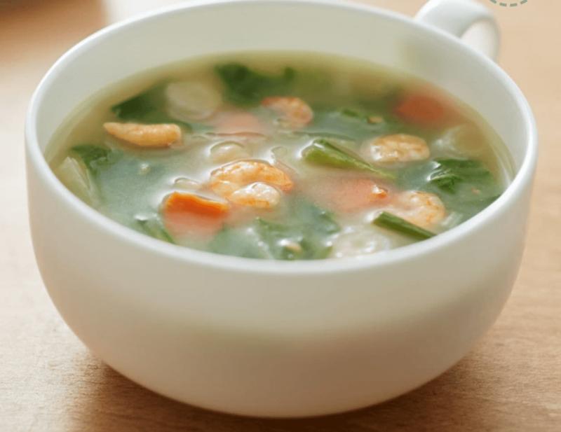 竹脇まりなさんおすすめ 無印良品 低カロリースープ 第4位|えびと水菜の白湯スープ