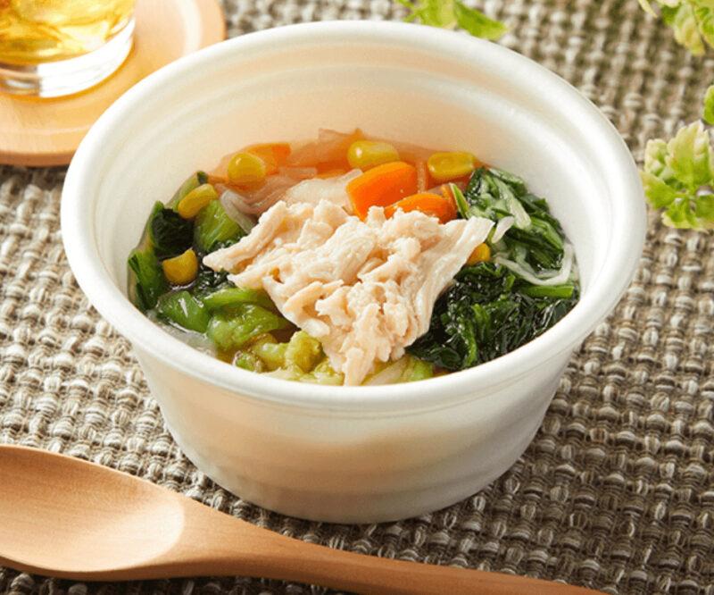 竹脇まりなさんおすすめ ファミリーマート ダイエットご飯①|7種野菜の鶏塩スープ