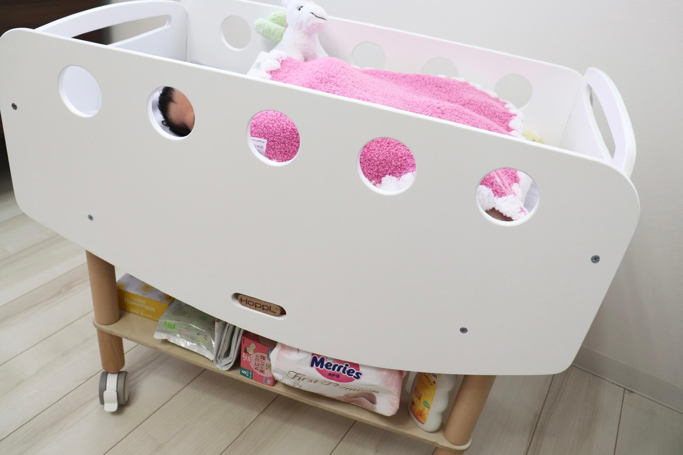 ホップルのbébéd(ベベッド)|リビングに最適!赤ちゃん用の移動可能ベッド