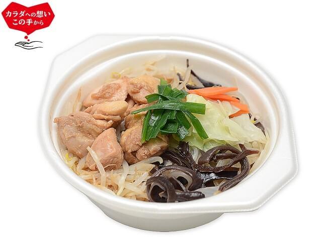 竹脇まりなさんおすすめ セブンイレブン ダイエットご飯①|たんぱく質が摂れる鶏鍋 豚骨醤油味