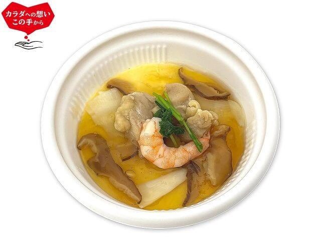 竹脇まりなさんおすすめ セブンイレブン ダイエットご飯②|たんぱく質が摂れる 豆乳仕立ての茶碗蒸し