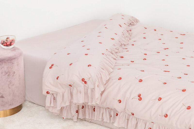 ジェラート ピケ スリープ|チェリー柄の寝具