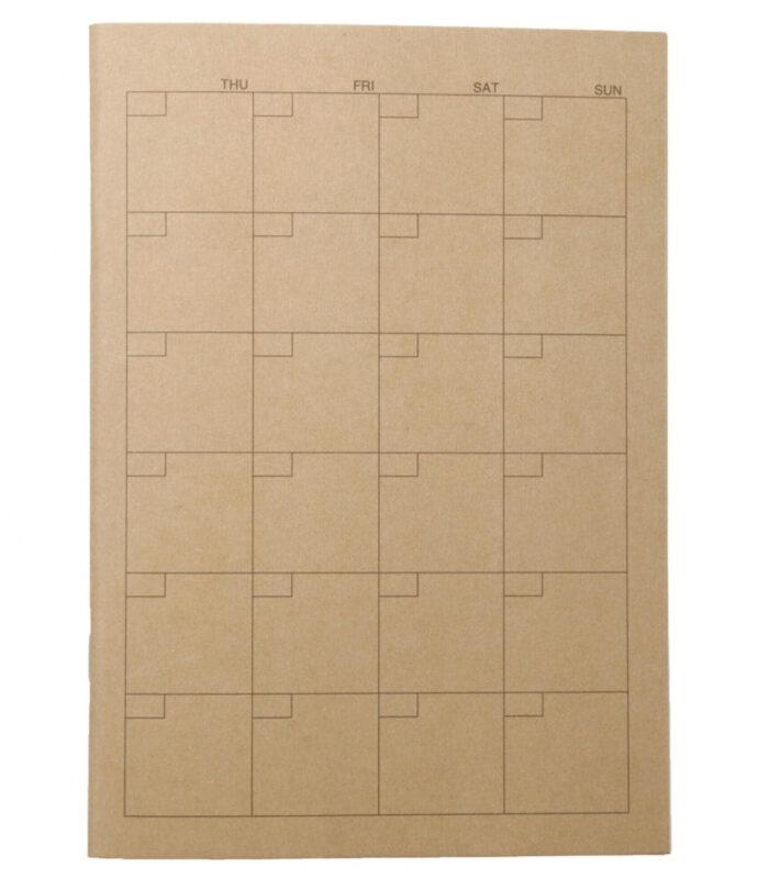 紗栄子さんのカバンの中身 愛用アイテム①|無印良品 ノート・マンスリー A5・32枚