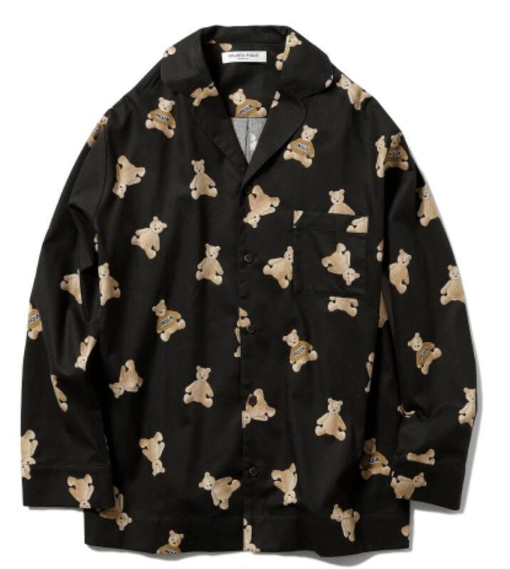 紗栄子さんおすすめ ジェラートピケ 大人可愛いパジャマ①|HOMME ベアネルシャツ