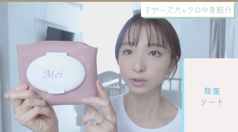 篠田麻里子さん|生後7ヶ月のマザーズバッグ中身まとめ