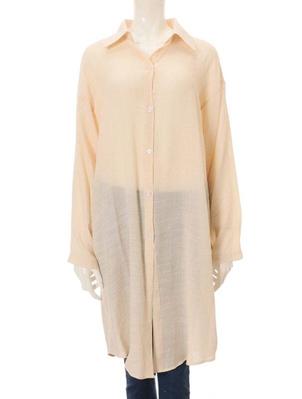 かわにしみきさん fifth春服 購入品⑭|リネンライクロングシャツ アイボリー