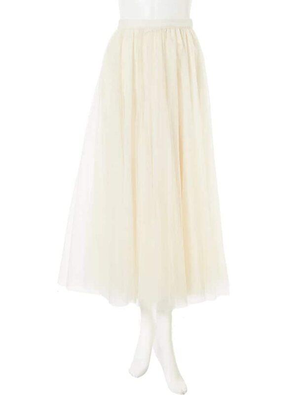 かわにしみきさん fifth春服 購入品⑫|チュールロングスカート オフホワイト