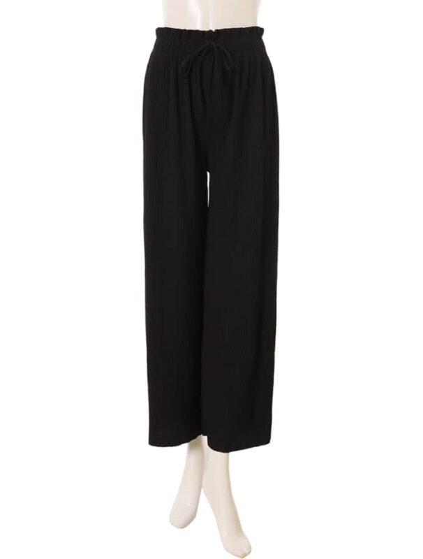 かわにしみきさん fifth春服 購入品⑤|イージーリブパンツ ブラック