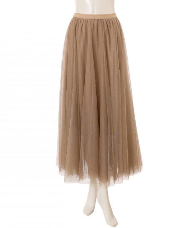 かわにしみきさん fifth春服 購入品⑧|チュールロングスカート ベージュ