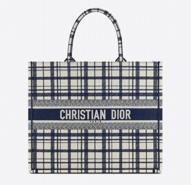 DIOR BOOK TOTE Check'n'Dior エンブロイダリー