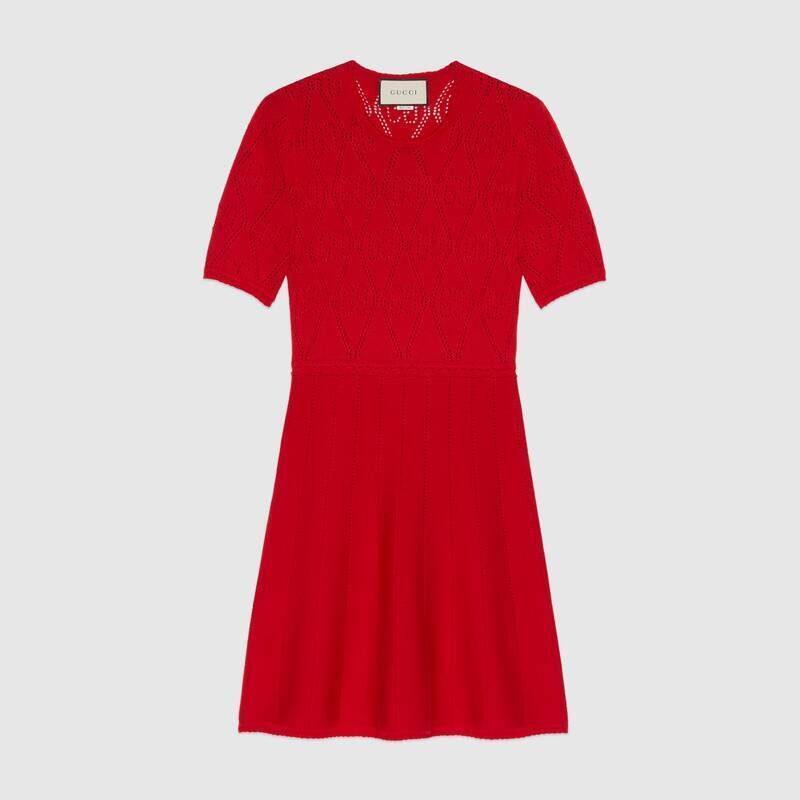 指原莉乃さん DHOLIC爆買い春服 購入品①|GUCCI ウール 透かし編み ワンピース